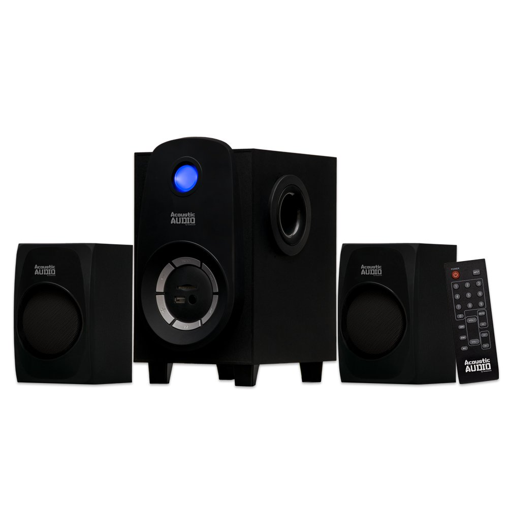 Acoustic Audio Bluetooth 2.1-Channel Home Theater Stereo System Black (AA2107) by Acoustic Audio by Goldwood