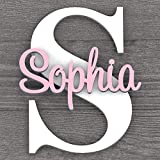 Personalized Nursery Name Decor, 14 inch Wall Letters, Boys & Girls, Above crib