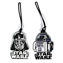 Star Wars Luggage Suitcase Tags R2D2 Darth Vader PVC (R2D2 & Darth Vader)