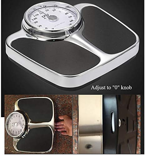 Professional mechanical scales, The highest load is 160kg/350lb Precision pointer weight scale, Accurate indexing value 1kg/2lb Large dial Health scale bathroom