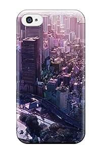 Jose Cruz Newton's Shop New Style cityscapes buildings anime flats cities Anime Pop Culture Hard Plastic iPhone 4/4s cases 2434701K878560741