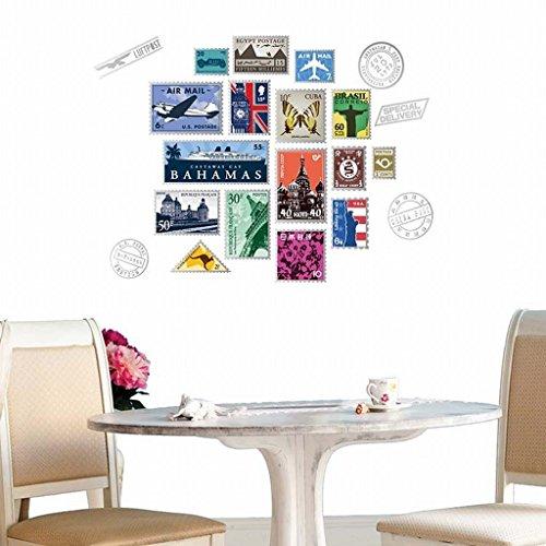 KAMAYSR Removable Wall Stickers Living Room Sofa Stamp Background Decoration Sticker JM7276
