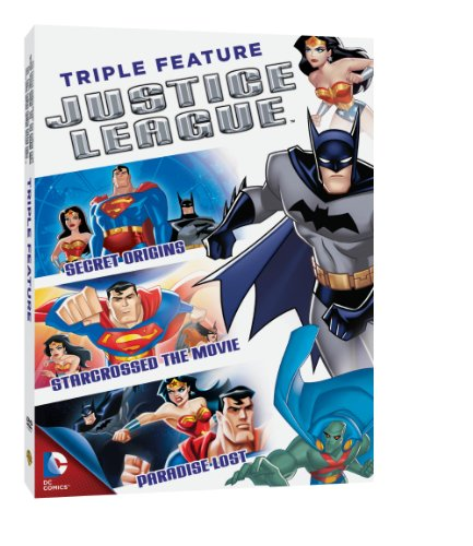 DVD : Justice League Triple Feature (Full Frame, Slipsleeve Packaging, 3 Pack, 3 Disc)