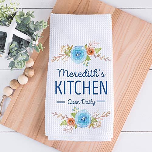 Custom Waffle Weave Dish Towel Personalized Kitchen Towel Personalized Dish Towel Housewarming Gift Housewarming Gift Wedding Gift Friend Birthday Gift