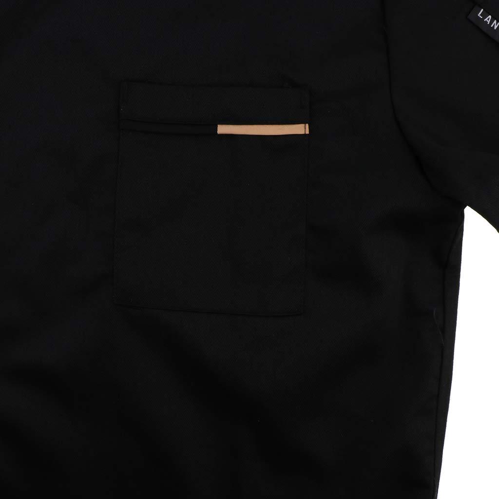 Sharplace Giacca da Cuoco Manica Corta Camicia da Chef Traspirante Cameriera Uniforme Panettiere Formale