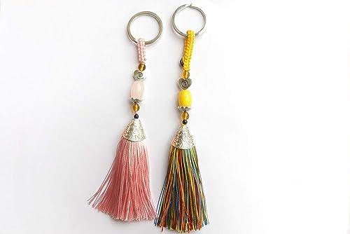 Handmade Tassel Key Chains Keyring Purse Handbag Accessories Charm Pendant Gift