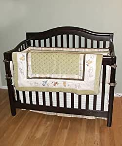 Vintage Teaberry 4 Piece Crib Set - amazoncom