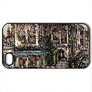 AN EVENING OF ROMANCE - Case Cover for iPhone 4 and 4s (Watercolor style, Black)