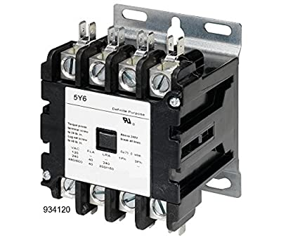 Definite Purpose Contactor HVAC 40 Amp 40A 4 Pole 120 Volt Coil UL Listed NEMA 600V Lighting AC