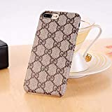 THE ONE Monogram New Elegant Luxury PU Leather Classic Style Cover Case for Apple (iPhone 6/6s/7/8 Plus)