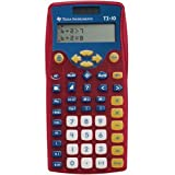 Texas Instruments TI-10 Elementary Calculator - Plastic Key, Impact Resistant Cover - 2 Line(s) - 12 Digits - Battery/Solar Powered - 1 Each