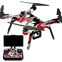 MightySkins Protective Vinyl Skin Decal for 3DR Solo Drone Quadcopter wrap cover sticker skins Red Camo
