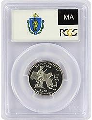 2000 Massachusetts State S Silver Proof Quarter PR-69 PCGS