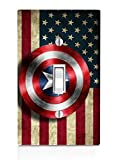 Old Style American Flag With Captain America Shield Design Print Image Light Switch Plate