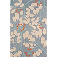 Momeni Rugs DUNESDUN10BLU2030 Dunes Collection, Hand Tufted 100% Wool Transitional Area Rug, 2 x 3, Blue