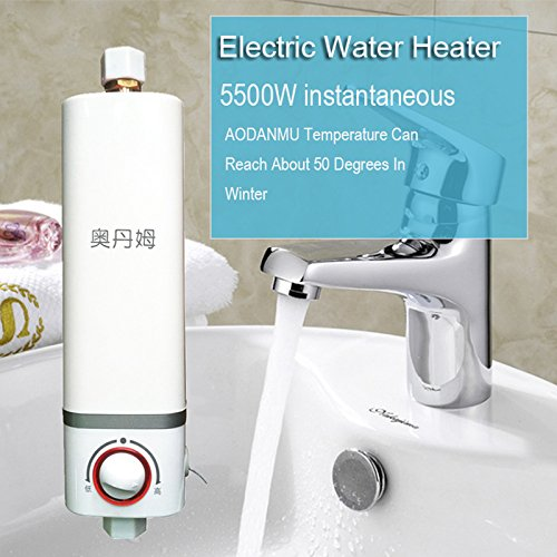GrowtherHOME Calentador de agua eléctrico instantáneo 220 V para baño, cocina, grifo y agua: Amazon.es: Hogar