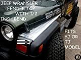 (US) JEEP WRANGLER TJ DIAMOND PLATE FULL TOP FENDER COVERS WITH BEND