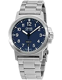 Oris Mens blue dial, stainless-steel bracelet watch 73576414165MBXG (Certified Refurbished)