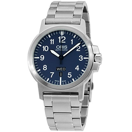 Oris Aviation Blue Dial Stainless Steel Men's Watch 73576414165MB