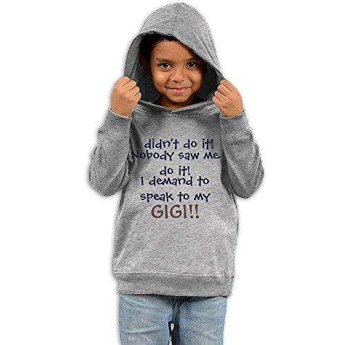 ZhiqianDF Toddler I Demand To speak To My Gigi Classic Sweater2 Toddler - Gigi Hadid Pink