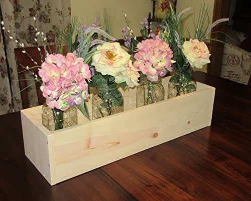 Planter Box Garden Box Unfinished Reclaimed Pallet by ...   Unfinished Wood Planter Boxes