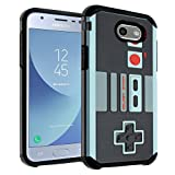 Cheap Galaxy J7 2017 NES Game Controller Case, Galaxy J7 2017(AT&T), Galaxy J7 Sky Pro, Galaxy J7 Perx Case DURARMOR Dual Layer Hybrid ShockProof Slim Fit Armor Cover for Samsung Galaxy J7 V 2017 – NES