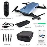 AOJIAN JJRC H47 Elfie Foldable Selfie Mini Drone FPV Quadcopter & Two Extra Battery-Blue