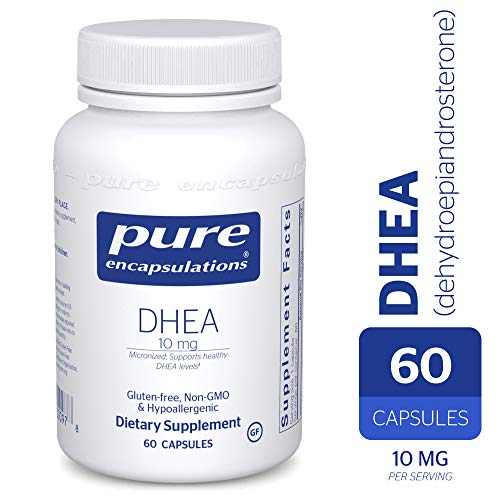 Pure Encapsulations - DHEA (Dehydroepiandrosterone) 10 mg - Micronized Hypoallergenic Supplement - 60 Capsules