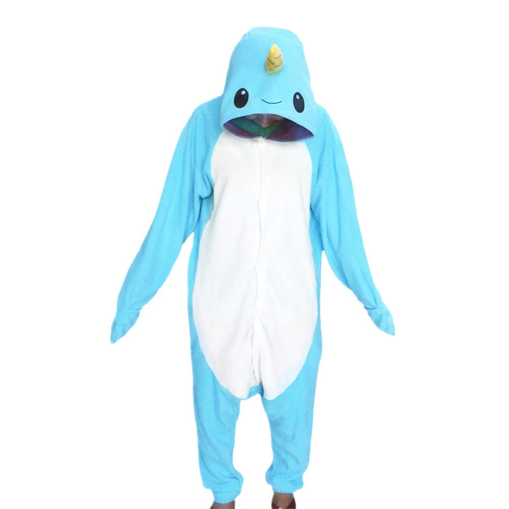 WOTOGOLD Animal Cosplay Costume Narwhal Unisex-adult Pajamas narwhal0173