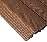 NewTechWood QD-SF-IP QuickDeck Composite Deck Tile Side Trim, 2-Inch x 1-Feet, Brazilian Ipe, 4-Piece