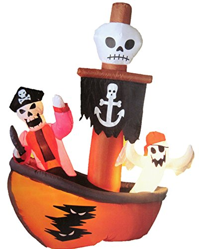 HALLOWEEN 6 FT TALL GHOSTLY PIRATE SHIP