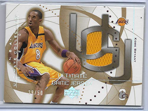 2002-03 Upper Deck Ultimate Collection Basketball Kobe Bryant Ultimate Game Jersey Card # 29/50 (Deck 03 Basketball Upper)