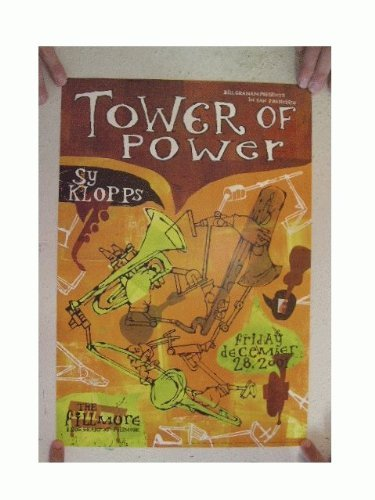Tower Of Power Concert Poster The Fillmore Dec. 28, 2001 Sy Klopps from RhythmHound