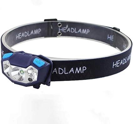 USB Rechargeable LED Sensor Head Torch Light Headlight Outdoor Camping Headlamp