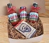 kansas city bbq gift - Gates Bar-B-Q Sauce Combo: 2 Bottles Original Classic, 1 Bottle Seasoning Dry Rub, & Hot/Spicy Microwave Popcorn (Kansas City Barbecue)