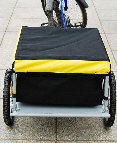 Aosom Elite Bike Cargo / Luggage Trailer - Yellow / Black Aosom Direct 5664-0005Y