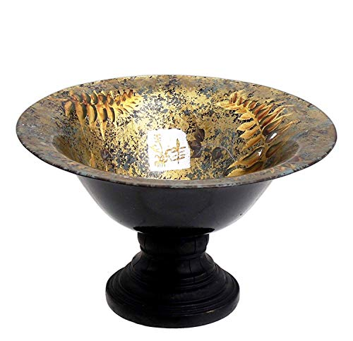(Lucky Winner Painted Glass Pedestal Bowl with Chinese Motif)