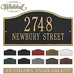 Metal Address Plaque Personalized Cast The Rolling Hills Plaque. Display your address and street name. Custom house number sign.