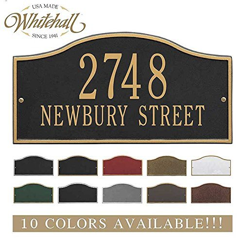 Personalized Plaque House (Metal Address Plaque Personalized Cast The Rolling Hills Plaque. Display your address and street name. Custom house number sign.)