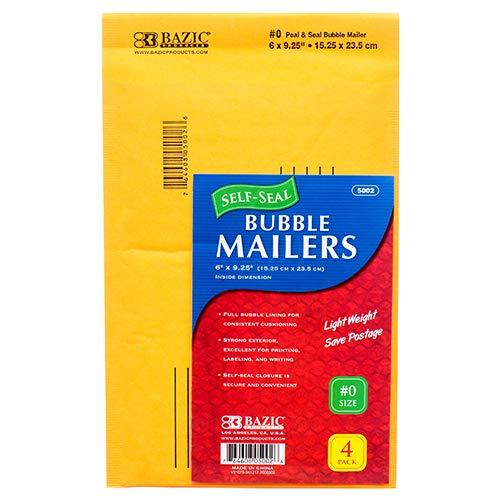 Bazic Products New 303258 Clasp Envelope 4Pc 6X9.25 Bubble Mailer 5002 (24-Pack) Envelopes Wholesale Bulk Seasonal Envelopes Fix Patch -