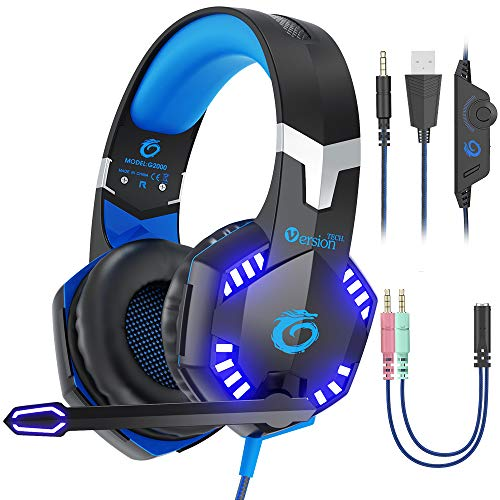 VersionTECH. G2000 [Updated] Stereo Gaming Headset for Xbox One PS4 PC