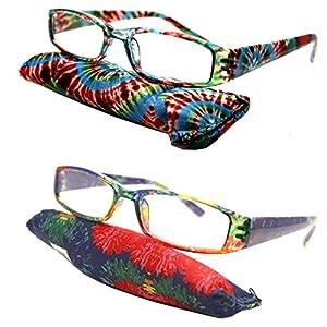 Retro Color Translucent Square 70 80 Men Women Urban Reading Glasses Reader + Storage Pouch (Strength: +2.25)
