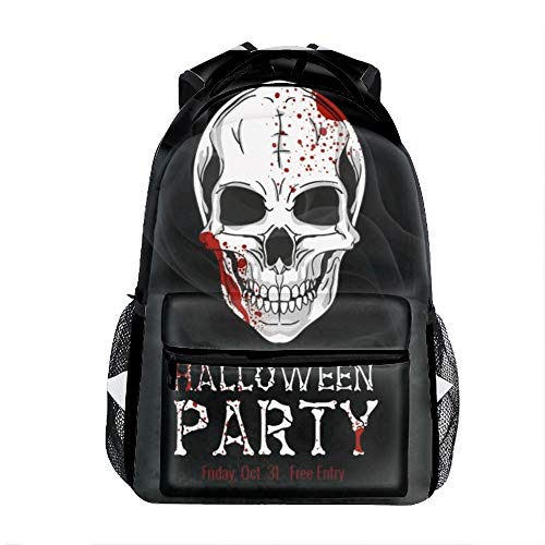Lightweight Backpack for School, Halloween Printable Flyer Basic Water Resistant Casual Daypack for Travel with Bottle Side Pockets for $<!--$36.51-->