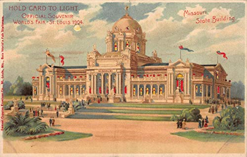 - Hold-To-Light Postcard Missouri State Building World's Fair St. Louis MO~122091