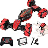 Loeiwg Stunt Remote Control Car - GW124 Gesture Sensing Twisting Vehicle & Rc Drift Car, 40 Minutes of Use, 7.4v (1200MA) Ultra-Large Capacity High-Speed Power for 3 4 5 6 7 8-12 Year Old Boy Toys ...