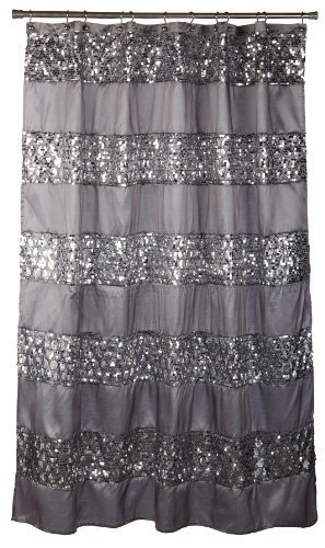 Popular Bath'Sinatra Silver' Shower Curtain
