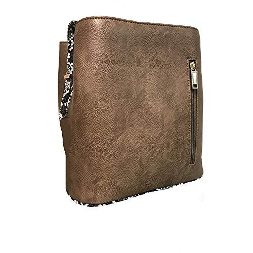'Lily' Designer Inspired Gold Copper Metallic Snakeskin Handbag by Samoe Style
