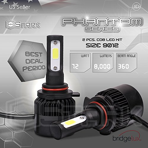 (Stark Phantom Series 72W Headlight Conversion Kit - 8000LM - 6000K Crystal White - Bulb Size: 9012 (True 9012))