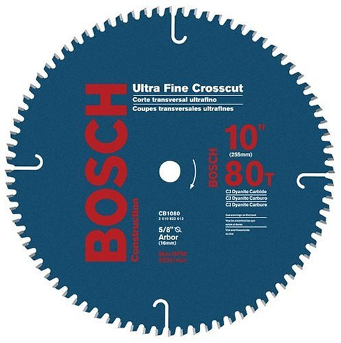 UPC 000346340648, Bosch CB1080 10-Inch 80 Tooth ATB Crosscutting Saw Blade with 5/8-Inch Arbor