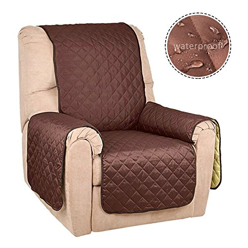 Interlink Reversible acolchado muebles Protector de sofá sofá reclinable antideslizante impermeable lavable a máquina para...